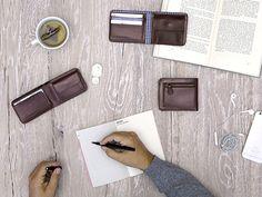 Men's bifold wallets Chocolate - LOST & FOUND accessoires