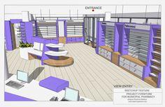 Plywood Furniture, Furniture Layout, Furniture Design, Supermarket Design, Retail Store Design, Shop Shelving, Store Layout, Counter Design, Clinic Design