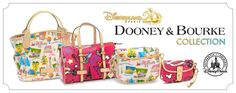 Dooney & Bourke Collection at Disney Store I just want one of each! lol