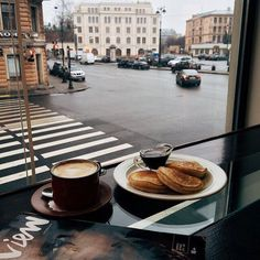 Perfect breakfast with a view