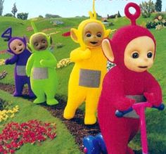 My son adored Teletubbies!!! Po was his favorite... 98-99