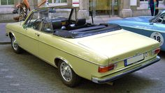 Audi 100 LS Cabriolet, 1969, by Karmann. Karmann made a prototype 100 convertible based on the C1 series 100 2-door saloon, however it remained a one-off. British coachbuilders Crayford did their own...