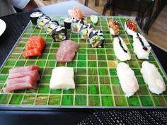 Tabla de sushi variado. Ewan food, Salinas, Asturias