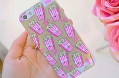 Imagen de popcorn, iphone, and case