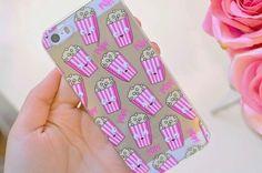 Imagen de popcorn, iphone, and case