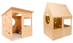 Modern Playhouse for Kids: Imagination Goes Mod | Captivatist Simple Playhouse, Modern Playhouse, Kids Indoor Playhouse, Build A Playhouse, Playhouse Ideas, Indoor Playground, Diy Outdoor Furniture, Kids Furniture, Bedroom Furniture