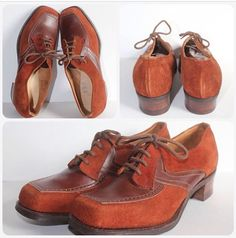 1940's suede and leather shoes