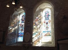 Windows at Portsmouth Cathedral. Sunlight. UK. SZ 63249 99383 20/9/15