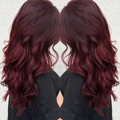 Long Dark Red Hair Color
