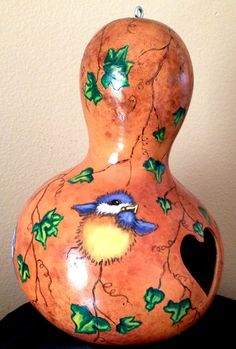 Painted Gourd Birdhouse by CindysCustomArt on Etsy