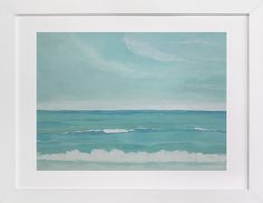 """Oceanscape"" by Mary McKenna in beautiful frame options and a variety of sizes."