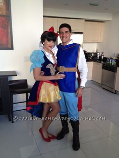 Prince Charming 100% Homemade Costume and Snow White (Purchased Online)... Coolest Halloween Costume Contest