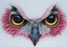 Coruja Owl Eye Tattoo, Owl Tattoo Drawings, Bird Drawings, Art Drawings Sketches, Animal Drawings, Mago Tattoo, Animal Tattoos, Owl Tattoos, Fish Tattoos