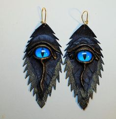 Dragon eye black antiqued genuine leather by LeasBoutique on Etsy