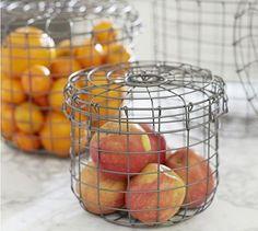 Nesting Kitchen Wire Baskets, Set of 3 #potterybarn