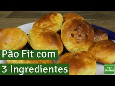 Pão rápido e saudável l 3 ingredientes l Coizinha Funcional - YouTube Bagel, Gluten, Low Carb, Banana, Bread, Snacks, Lactose, Food, 1