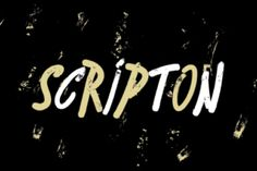 http://Bouncy, slanted and urban brush typeface Scripton combines 2 different glyph weights within single font file which gives an specific rhytm and contrast to titles and paragraphs.