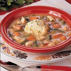 Turkey Stew with Dumplings, dinner this week, stock is boiling as I ...