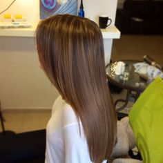 Dark Ash blonde highlights on Dark Brown
