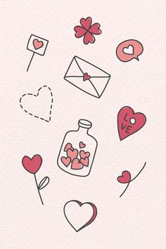 Love icons and symbols hand drawn doodles. Wedding and Valentine's. Love icons and symbols hand drawn doodles. Wedding and Valentine's day hand sketched vector art Love Doodles, Simple Doodles, Doodles How To, Mini Drawings, Cute Easy Drawings, Doodle Drawings, Valentines Day Doodles, Valentines Day Drawing, Kids Valentines
