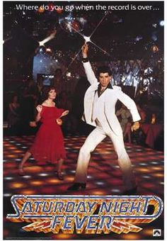 Saturday Night Fever movie poster. The voice of a generation.