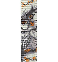 Grey sweet owl bead peyote pattern beading pattern stitch