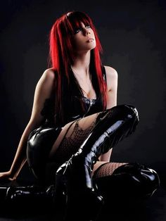 #Fetish #Goth girl with great #red hair