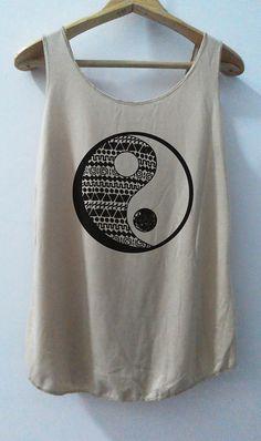 Ying Yang Old School Shirt T-Shirt Fashion chemise tshirt chemise débardeur T-Shirt unisexe tunique Top gilet taille S, M, L
