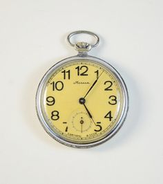 Vintage Pocket Watch MOLNIJA  Working Mechanical by GeorgiVintage, $49.00
