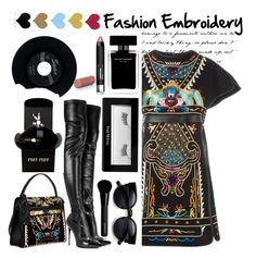 """Fashion Embroidery"" by emcf3548 ❤ liked on Polyvore featuring Valentino, Alexander McQueen, Belmacz, CHESTERFIELD, Givenchy, Narciso Rodriguez, Trish McEvoy, women's clothing, women and female"
