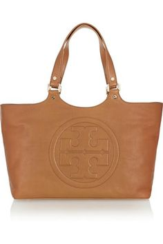 Tory Burch Bombe Burch leather tote  – 50% at THE OUTNET.COM #bag #women #covetme