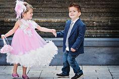 Pink Puffy Feathered  Dress.