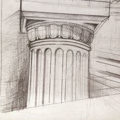 The Doric order is first of the Greek classical orders, followed up by Ionic and Corinthian. Doric capitols lack ostentatious decoration, therefor are easiest to draw (I still recommend you go for a composition with all the three). Follow me for more tips on architectural drawing and design. Daily Drawing, Drawing Tips, Greek Drawing, Corinthian, Easy Drawings, Composition, Architecture, Decoration, Design