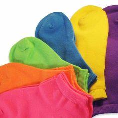Soxnet Women`s Neon Socks - Solid Colors Low Cut Pack (bestseller) Colorful Socks, Hosiery, Best Sellers, Dinosaur Stuffed Animal, Women Accessories, Dream Wedding, Pairs, Neon, My Style