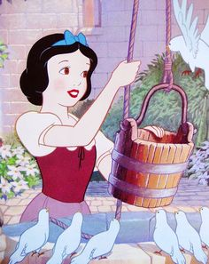 snow white & a bunch of bird slackers