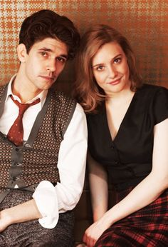 "Ben Whishaw and Romola Garai portray the characters of Freddie Lyon and Bel Rowley respectively in the tv show ""The Hour""......."