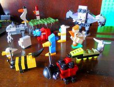 minecraft / mine craft caterpillar , lady bug , birds , cow , sheep , bat , bumble bee , crab , penguin (pic 2)