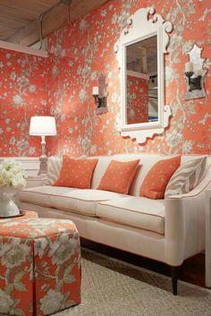 Nice sofa and fabrics.
