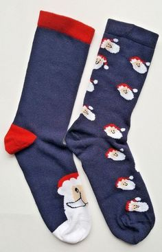 9a825697d20 Extra Off Coupon So Cheap Womens Boys Girls Christmas Socks Size UK Navy  Cotton Rich 2 Pairs