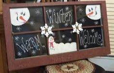 primitive snowman - a good winter idea for one of my old window frames Primitive Christmas, Country Christmas, Christmas Snowman, All Things Christmas, Winter Christmas, Christmas Holidays, Christmas Decorations, Christmas Windows, Christmas Ideas