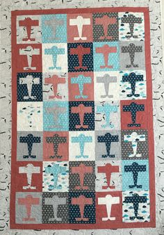 Deb Taylor Airplanes Baby Quilt