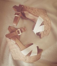 White, Brown, and/or Nude Wedges