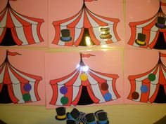 circustent (één-één-verbinding) tovenaars-hoeden *liestr* Circus Clown, Leeuwen, Clowns, Tasty, Painting, Lockers, Colors, Painting Art, Imperial Crown