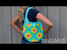 DIY Learn How to Crochet Granny Square Purse Hand Bag Tote Tutorial - Squares, Half Squares,Triangle - YouTube
