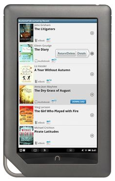 Great news for users of NOOK HD, NOOK HD+, NOOK Tablet™ and NOOK Color™: Barnes & Noble has added the OverDrive app to the NOOK Apps™ storefront. Now you can wirelessly borrow eBooks and MP3 audiobooks from the library!