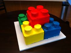 Lego birthday cake (rear view)