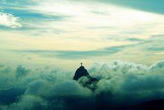 Top of Pão de Açucar, a mountain in Rio.