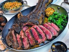 44 ounces of 40-day dry-aged prime beef. | The Costata rib steak