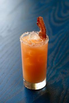 TGIF! {bashi hot & sour cocktail: whistle pig rye, ty ku liqueur, fresh lime & lemon juice, sriracha chili, bacon}