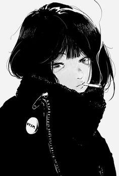 Anime Art Girl, Manga Art, Manga Anime, Pretty Art, Cute Art, Aesthetic Art, Aesthetic Anime, Gothic Anime, Estilo Anime